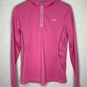 Fila long sleeve 1/4 zip pullover jacket size M
